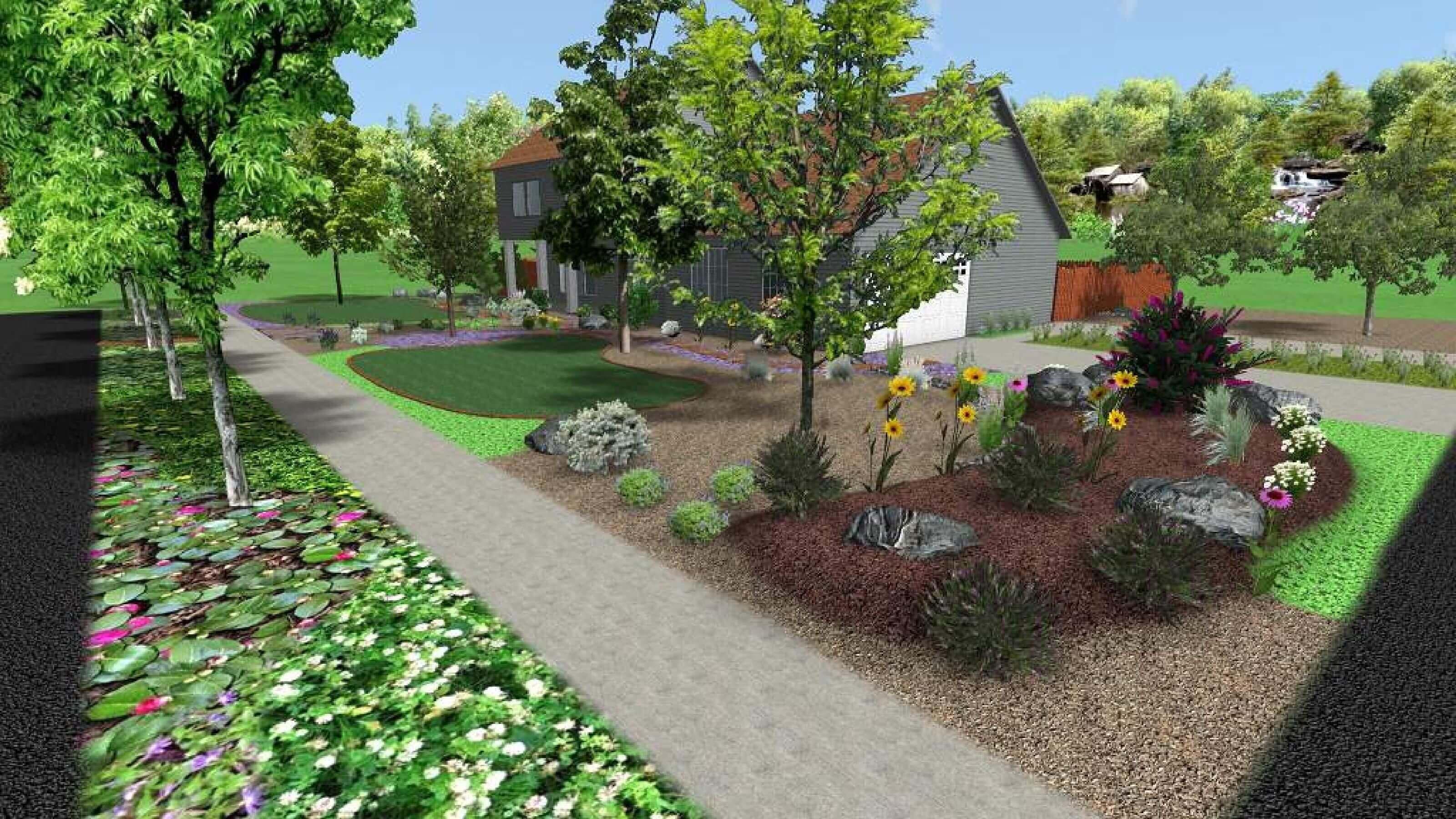 Permaculture Landscape Design-Suburban Homestead-3d design ...