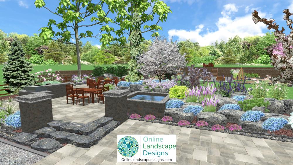 Online Landscape Designs 2d And 3d Garden Design Images