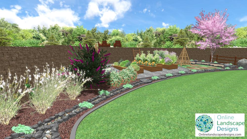 Online Landscape Designs-2d and 3d garden design images
